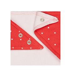 Girls Bibs Floral And Glitter Star Print - Pack Of 3 - White Red