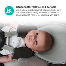 bbluv - Pilo - Ergonomic Headrest for Baby (Cool Grey)