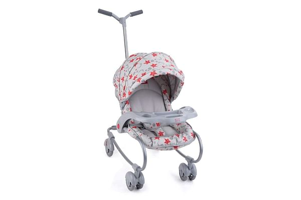 Nuluv Baby Stroller Cum Rocker - Grey