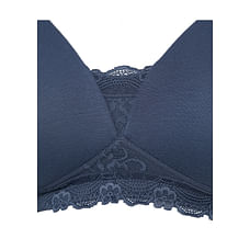 Women Maternity Nursing Bra Lace Details - Pack Of 2 - Blue White
